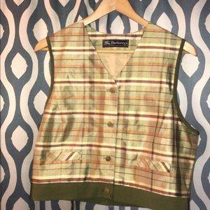 Burberrys Womens silk vest size L, NWOT